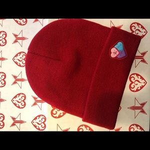 Jeffree ⭐️ Star Exclusive Red Hearts Beanie Hat ❤️